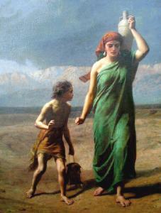 Agar e Ismaele nel deserto